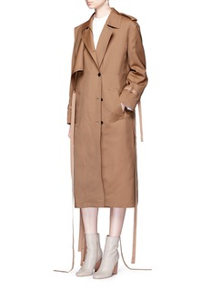 Ports 1961 Layered wool-silk gabardine trench coat