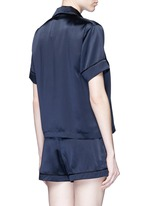 'Shelby' silk charmeuse pyjama top