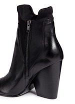 'Bazar' neoprene panel leather ankle boots