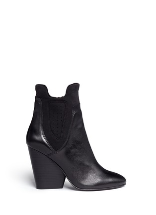 Main View - Click To Enlarge - Ash - 'Bazar' neoprene panel leather ankle boots
