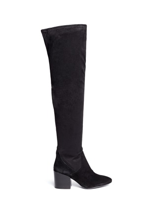 Ash - 'Elisa' stretch faux suede thigh high boots