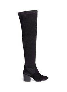 ASH 'Elisa' stretch faux suede thigh high boots