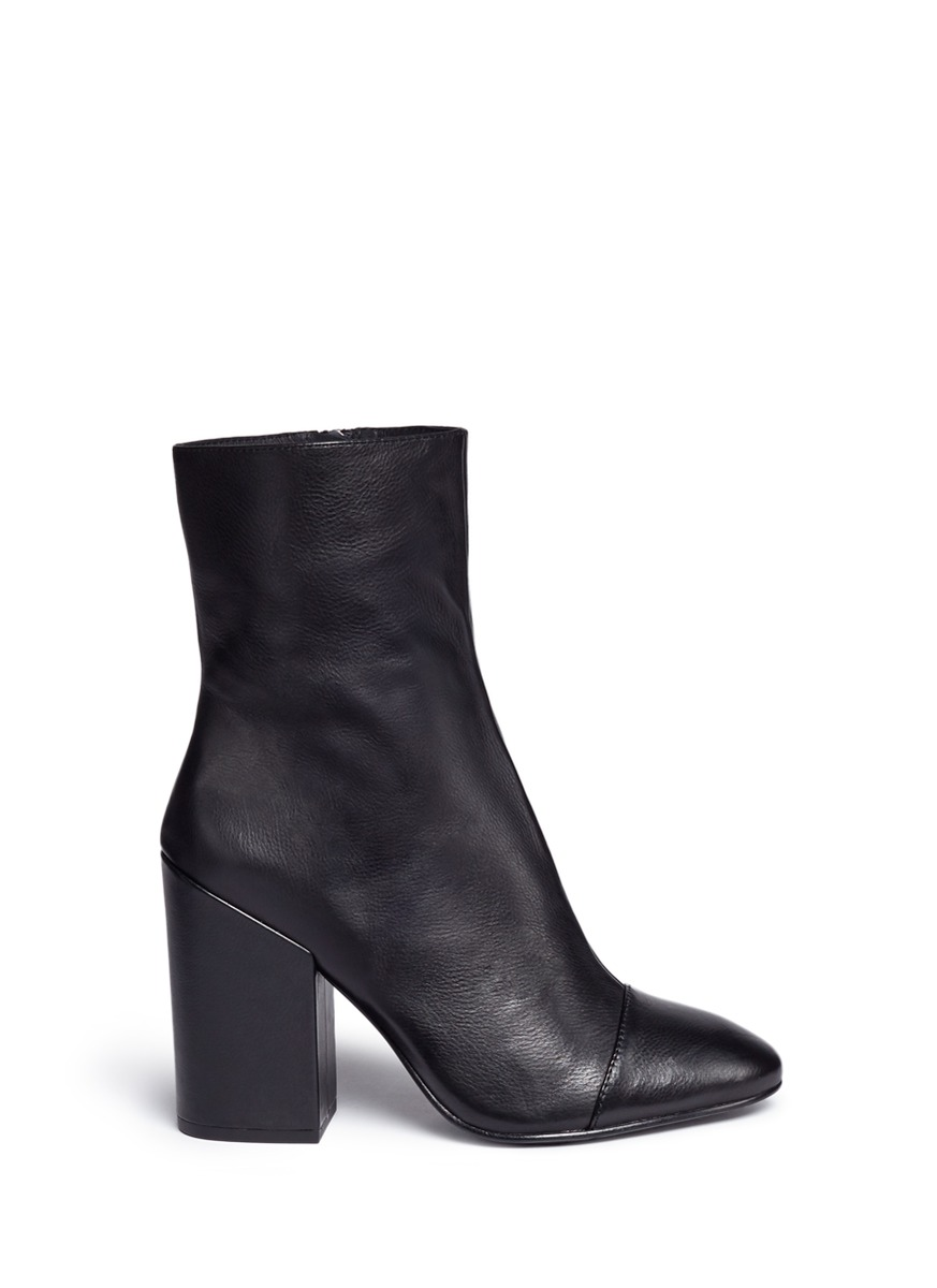 Flora leather mid calf boots by Ash