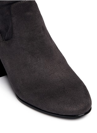 Detail View - Click To Enlarge - Ash - 'Elisa' stretch faux suede thigh high boots