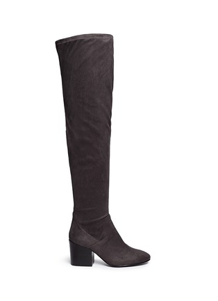 Main View - Click To Enlarge - Ash - 'Elisa' stretch faux suede thigh high boots