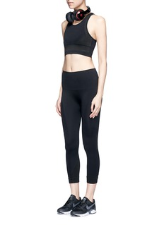 Lndr 'Peak Crop' circular knit cropped performance leggings