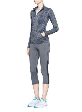 Figure View - Click To Enlarge - LNDR - 'Base' circular knit performance jacket
