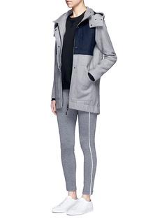 Lndr'Outsider' colourblock double-faced wool coat