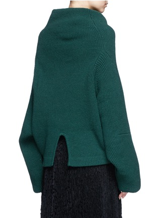 Back View - Click To Enlarge - TOGA ARCHIVES - Merino wool turtleneck sweater