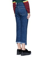 Frayed cuff denim pants