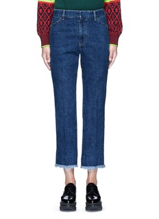 TOGA ARCHIVES Frayed cuff denim pants
