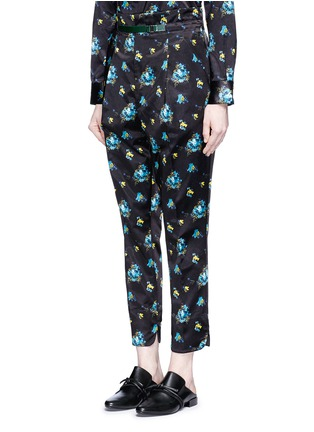 TOGA ARCHIVES - Belted floral print duchesse satin pants