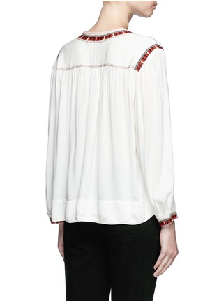 Back View - Click To Enlarge - Isabel Marant Étoile - 'Cabella' tassel tie ethnic embroidery top
