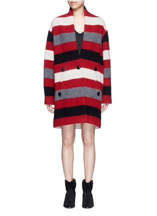 Main View - Click To Enlarge - Isabel Marant Étoile - 'Gabrie' stripe wool blend bouclé jacket