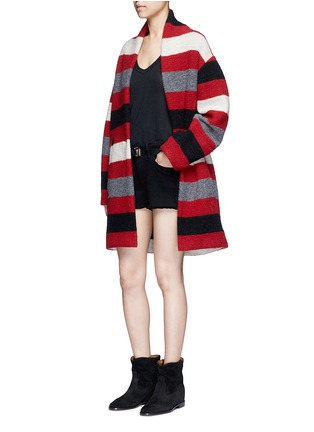 Figure View - Click To Enlarge - Isabel Marant Étoile - 'Gabrie' stripe wool blend bouclé jacket