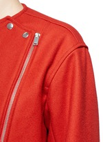 'Esther' felted virgin wool-cashmere biker jacket