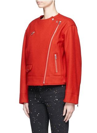 Isabel Marant Étoile-'Esther' felted virgin wool-cashmere biker jacket