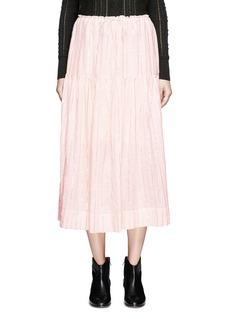 Isabel Marant Étoile'Silvio' metallic stripe drawstring waist midi skirt