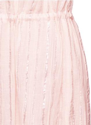 Detail View - Click To Enlarge - Isabel Marant Étoile - 'Salome' metallic stripe drawstring waist dress