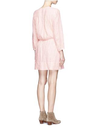Back View - Click To Enlarge - Isabel Marant Étoile - 'Salome' metallic stripe drawstring waist dress
