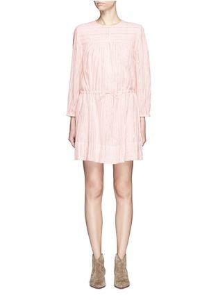 Main View - Click To Enlarge - Isabel Marant Étoile - 'Salome' metallic stripe drawstring waist dress