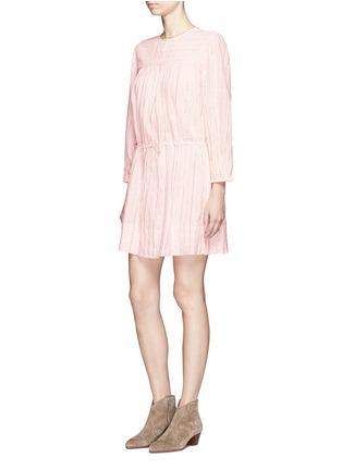 Figure View - Click To Enlarge - Isabel Marant Étoile - 'Salome' metallic stripe drawstring waist dress