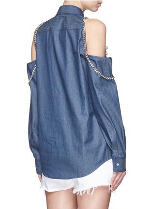 背面 - 点击放大 - FORTE COUTURE - 链条人造珍珠装饰露肩衬衫
