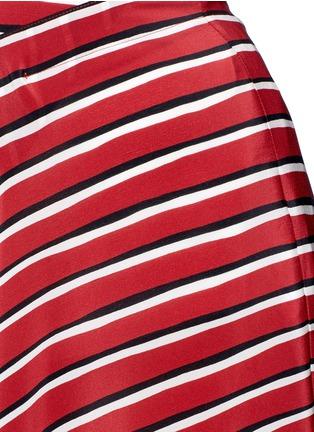 细节 - 点击放大 - ALTUZARRA - DIETRICH条纹褶裥真丝半身裙