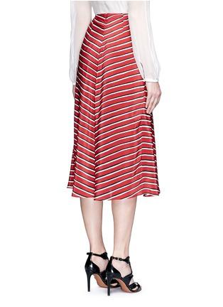 背面 - 点击放大 - ALTUZARRA - DIETRICH条纹褶裥真丝半身裙