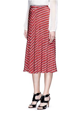正面 -点击放大 - ALTUZARRA - DIETRICH条纹褶裥真丝半身裙