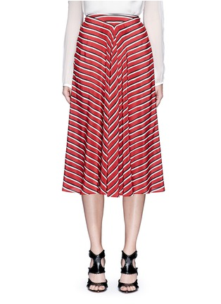 首图 - 点击放大 - ALTUZARRA - DIETRICH条纹褶裥真丝半身裙