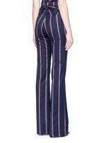 ''Serge' stripe virgin wool blend pants