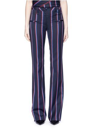 首图 - 点击放大 - ALTUZARRA - SERGE条纹羊毛混棉喇叭裤