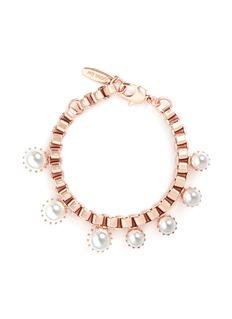 Joomi Lim'Organized Chaos' faux pearl box chain bracelet