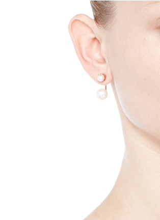 Figure View - Click To Enlarge - Joomi Lim - 'True Innocence' floating faux pearl stud earrings