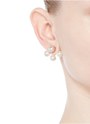 Figure View - Click To Enlarge - Joomi Lim - 'True Innocence' faux pearl deco earrings