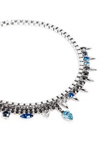 'Organized Chaos' spike crystal chain necklace