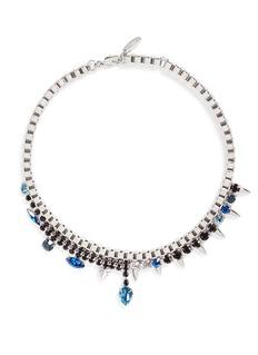 JOOMI LIM'Organized Chaos' spike crystal chain necklace