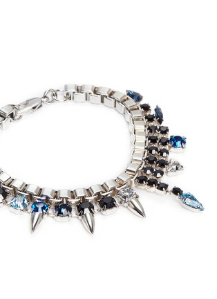 Detail View - Click To Enlarge - Joomi Lim - 'Organized Chaos' crystal stud chain bracelet