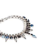 'Organized Chaos' crystal stud chain bracelet