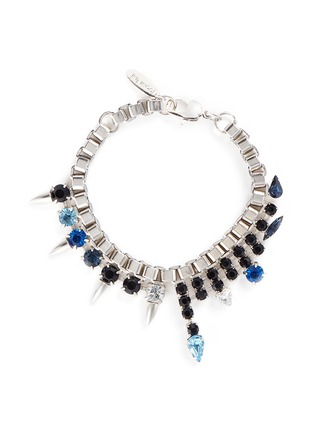 Main View - Click To Enlarge - Joomi Lim - 'Organized Chaos' crystal stud chain bracelet