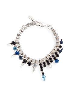 Joomi Lim'Organized Chaos' crystal stud chain bracelet
