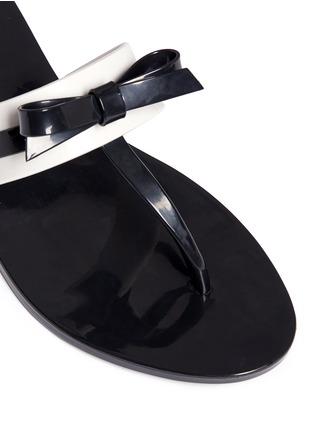 细节 - 点击放大 - MELISSA - GAROTA蝴蝶结拼色夹脚PVC凉拖