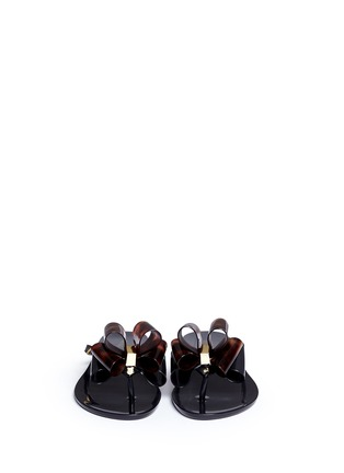 正面 -点击放大 - MELISSA - Harmonic蝴蝶结装饰果冻凉鞋