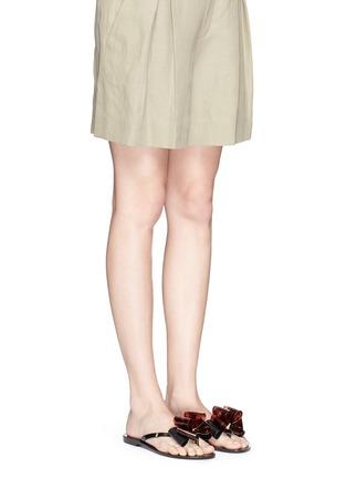 模特儿示范图 - 点击放大 - MELISSA - Harmonic蝴蝶结装饰果冻凉鞋