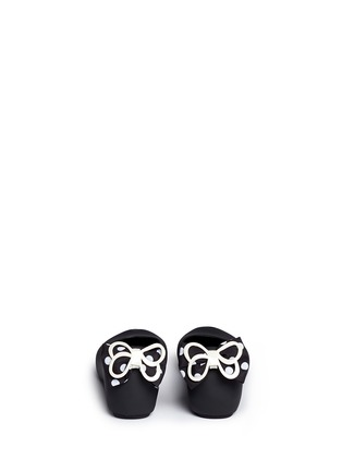 Back View - Click To Enlarge - Melissa - 'Ultragirl Minnie' polka dot bow kids flats
