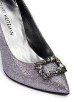 'Divine Heist' Swarovski crystal brooch glitter pumps