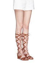 'Grecian' lace-up suede gladiator sandals