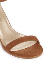'Nearly Nude' block heel suede sandals
