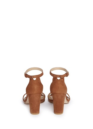 Back View - Click To Enlarge - Stuart Weitzman - 'Nearly Nude' block heel suede sandals
